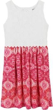 Speechless Girls 7-16 & Plus Size Sleeveless Lace Bodice Dress