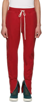 Fear Of God Red Heavy Terry Lounge Pants