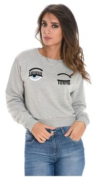 Chiara Ferragni Women's Grey Cotton Sweatshirt.