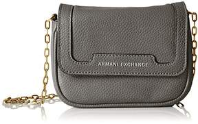Armani Exchange A X Pebbled Faux Leather Crossbody