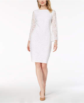 Alfani Lace Bell-Sleeve Dress, Created for Macy's