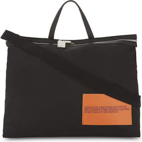 CALVIN KLEIN 205W39NYC Canvas and leather medium tote