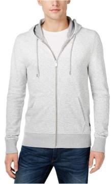 Michael Kors Ombre Textured Hoodie Sweatshirt Grey M