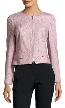 Basler Printed Cotton Zipper Jacket