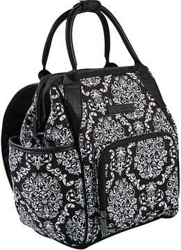 Fit & Fresh Black & White Damask Piper Lunch Bag