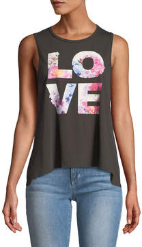 Chaser Love Floral-Graphic Muscle Tee