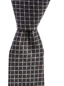 Roundtree & Yorke Diamond Grid Narrow Silk Tie