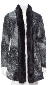 Alberto Makali Faux Fur-Trimmed Textured w/ Tags