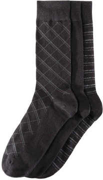 Joe Fresh Men's 3 Pack Essential Socks, JF Black (Size 10-13)