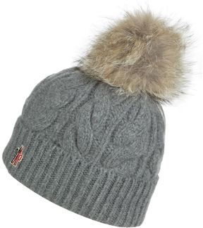 Moncler Berretto Cable Knit Pom Beanie