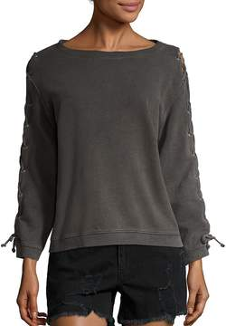 RtA Women's Harper Lace-Up Sweatshirt