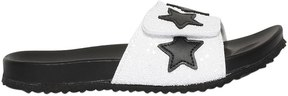 MonnaLisa Leather Slide Sandals W/ Stars