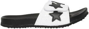 MonnaLisa Leather Slide Sandals W/ Stars