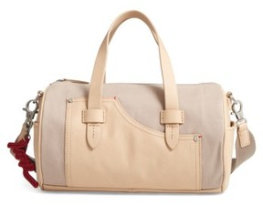 Ed Ellen Degeneres Mini Carml Leather & Canvas Barrel Bag - Grey