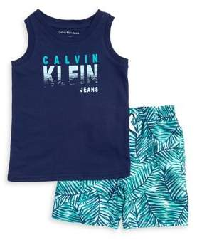 Calvin Klein Jeans Little Boy's Muscle Tee and Printed Shorts Set