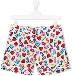 Moschino Kids teen letter print shorts