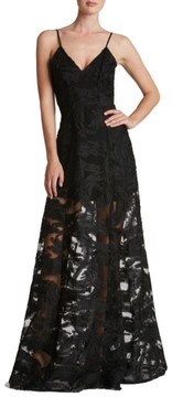 Dress the Population Women's 'Florence' Woven Fit & Flare Gown