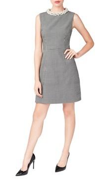 Betsey Johnson Women's Embellished Collar Sheath Dress