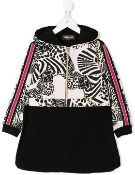 Roberto Cavalli zebra hooded dress
