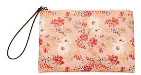 MANGO Floral saffiano-effect cosmetic bag