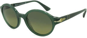 Asstd National Brand Persol Sunglasses - Po3098 / Frame: Opal Green Lens: Blue Yellow Gradient (50Mm)