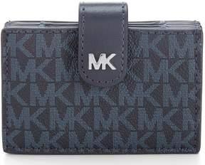 MICHAEL Michael Kors Signature Silver Hardware Card Case