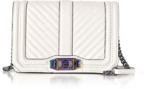 Rebecca Minkoff Bianco Chevron Quilted Leather Small Love Crossbody - ONE COLOR - STYLE