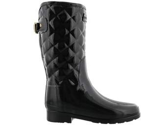 Hunter Gloss Quilt Short Boots