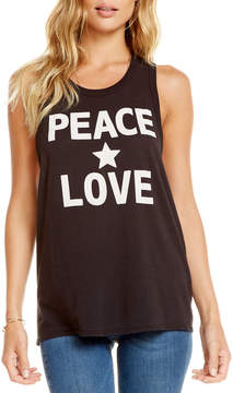 Chaser Peace Love Star Tank Top
