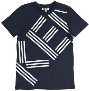 Kenzo Logo Printed Cotton Jersey T-Shirt