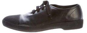 Prada Leather Cap-Toe Sneakers