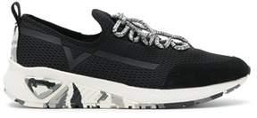 Diesel Men's Black Polyester Sneakers.