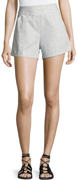 Bishop + Young Ana Striped Pocket Shorts, Blue/White