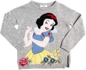 MonnaLisa Snow White Wool Blend Sweater