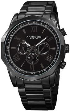 Akribos XXIV Mens Black Strap Watch-A-940bk
