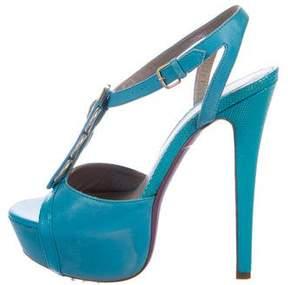 Versace T-Strap Platform Sandals