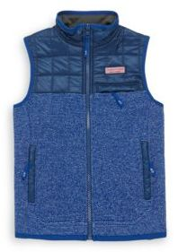Vineyard Vines Toddler's, Little Boy's & Boy's Jacquard Fleece Vest