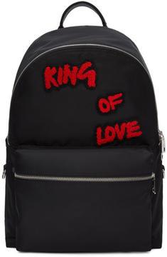 Dolce & Gabbana Black King of Love Backpack