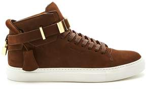 Buscemi 100mm Buckle suede high-top trainers
