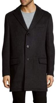 Saks Fifth Avenue BLACK Textured Topcoat