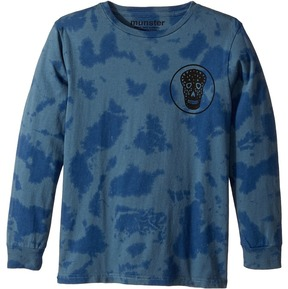Munster Tri Skull Jersey Long Sleeve Tee Boy's Long Sleeve Pullover