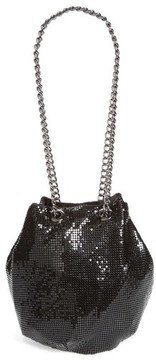 Whiting & Davis Mesh Bucket Bag - Black