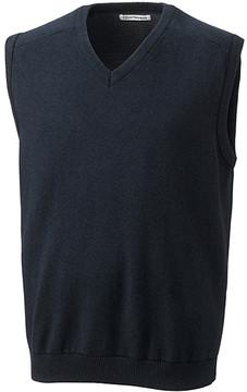 Cutter & Buck Black Broadview V-Neck Sweater Vest - Men