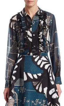 Comme des Garcons Abstract Ruffled Blouse