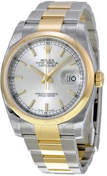 Rolex Datejust 36 Silver Dial Stainless Steel and 18K Yellow Gold Oyster Bracelet Automatic Men's Watch