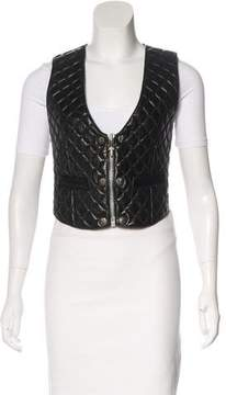 Chrome Hearts Quilted Leather Vest