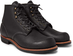 Red Wing Shoes Blacksmith Textured-Leather Boots