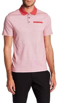 English Laundry Spread Collar Short Sleeve Polo