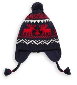 Ralph Lauren Toddler's, LIttle Kid's & Kid's Reindeer Knit Earflap Pom-Pom Hat