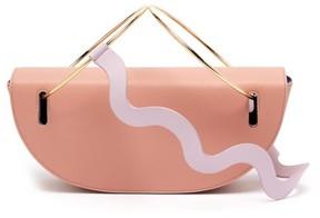 Roksanda Elba Wave Strap Leather Shoulder Bag - Womens - Light Pink